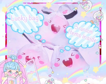 One 1 Lucky Bag, 5 Random Items From Sweet Spirits! Lucky Pack, Mystery Grab Bags, Surprise, Grab Bag. Fairy Kei / Pastel Goth