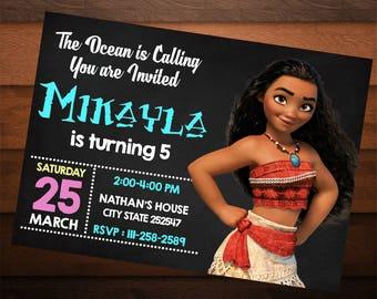 Moana Invitation, Moana Birthday Decoration, Moana Invitation, Moana Invitation Instant Download, Moana Invitation Printable, Moana Digital