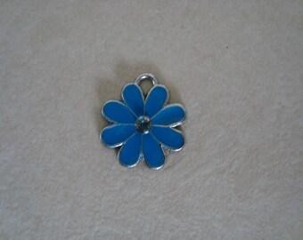 Blue flower pendant charm