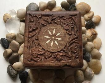 Beautiful Trinket Jewelry Wooden Box