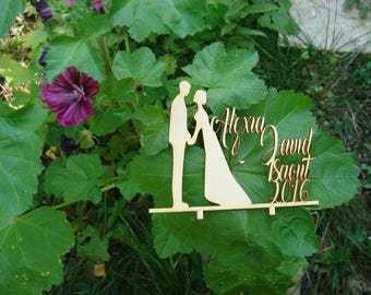 cake topper 02892 your pieces wooden mount