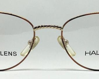 Halston 302 / Vintage Eyeglasses / Brand New / Unworn / Gold Eyeglasses