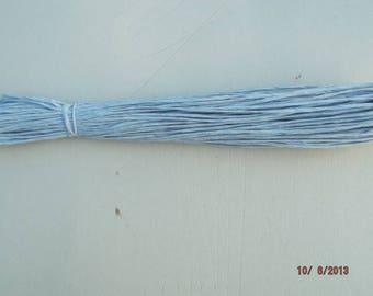 natural raffia color blue skein of 18 meters