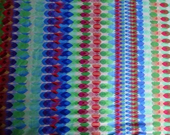 printed 120 cm hollow jersey fabric