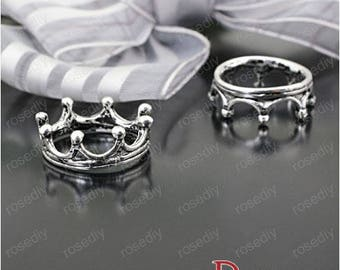 10 17 * 6MM Imperial Crown E23652 antique silver charms