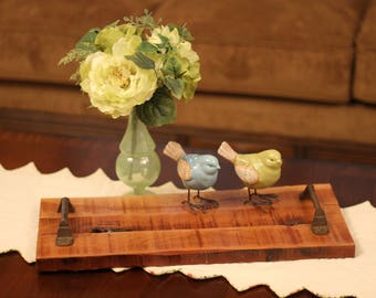 Beautiful Cherry Wood Wooden Tray! Decorative Tray! Serving Tray!