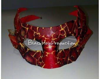 Elemental Fire Lava Elemental Mask Masquerade Larp