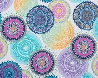 Fabric mandala blue 46.50 cm / 50 cm