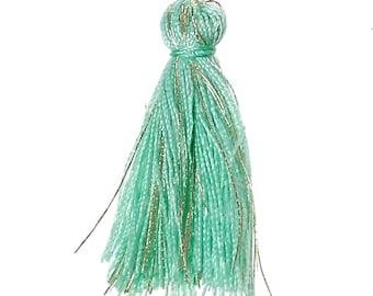FIL93 - Green green cotton tassel of 25.0 mm