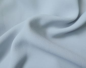Light gray polyester crepe fabric / bead - price by 50 cm