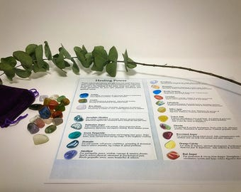 20 piece mini chakra set with stone guide