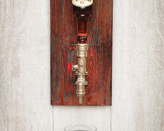 Liquor dispenser|Wall dispenser for drinks in the trendy direction of steampunk, loft, industrial. A great gift for men on birthday.