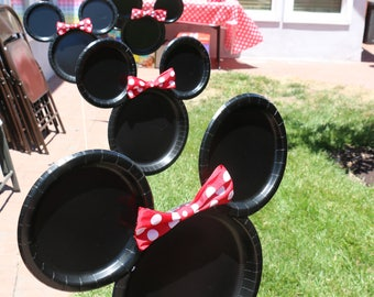 Mickey/Minnie Mouse Plate
