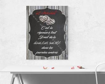 "Decorative ""chocolate inspirational"" digital print"