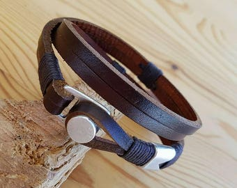 Leather Bracelet Man bracelet Men bracelets Leather Men Bracelet Gift for him Anniversary Gift for Men Gift for Boy