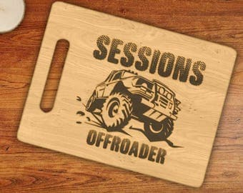 Personalized Off Road Custom Name Engraved Cutting Board