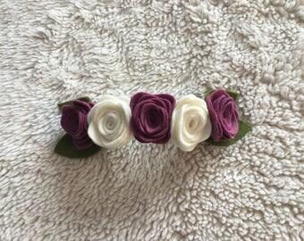 5 Rose Felt Floral Headband