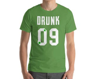 Drunk 09 - St. Patrick's Day - St Patricks Day tee - St Patricks outfit - Dog shirt - St Patricks clothes - Irish shirt
