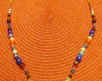 Multiple Color Beaded Necklace