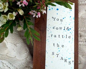You Could Rattle the Stars | Throne of Glass | Sarah J. Maas bookmark