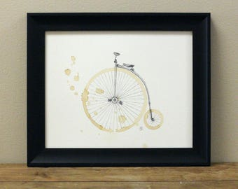 Vintage Coffee Bike Art Print - Vintage Bike