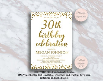 Adult Birthday Party Invitations Etsy - Editable birthday invitations for adults