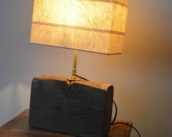 Oak table lamp