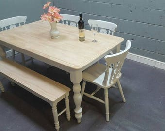Shabby Chic 5FT Table / bench Set
