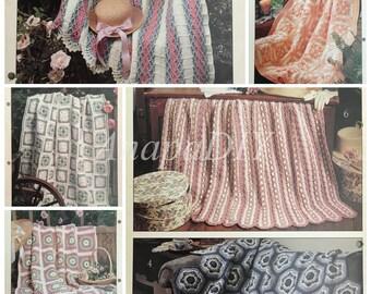 PDF 6 Crochet Pretty Pastels Afghans