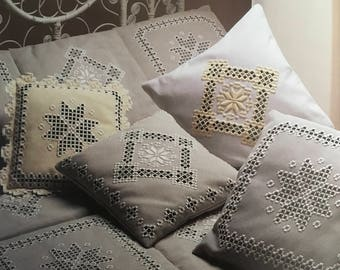 PDF Hardanger Embroidery Cushion Cover, Bedspread And Tablecloth