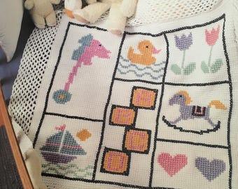 PDF Crochet/Cross-Stitch Baby Sampler Afghan