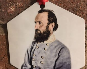 Stonewall Jackson Christmas Ornament Civil War Confederate