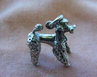 D) Vintage Sterling Silver Charm French Poodle Dog