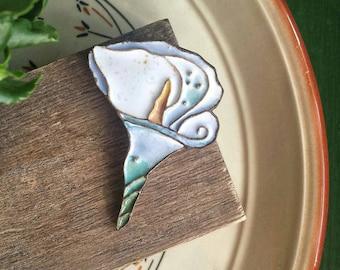 Ceramic brooch «Callа»