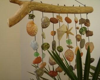 windchime with natural seashells, Seashell Wind Chime,   seashells, Sea Shell Mix, Beach Wedding, Shell, Natural Shell