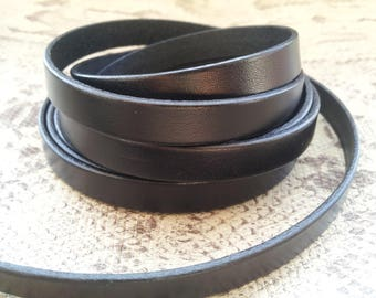 10mm flat black with high quality European leather strap