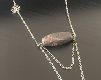 silver multi chain necklace