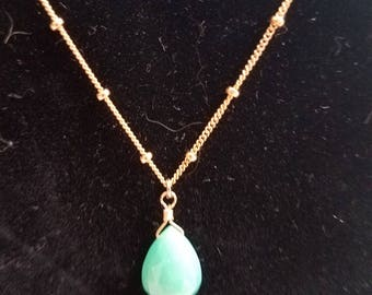 Emerald Necklace in 14K Gold Filled