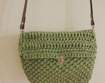 Trapillo leather handle bag