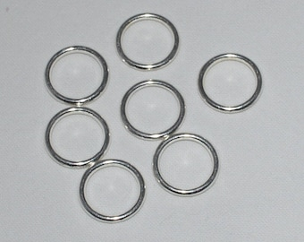 10 color 14x2mm silver closed jump rings