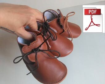 Baby Shoes Pattern - Pattern Baby Booties To Make this Funny Leather Baby Shoes, Sewing Leather