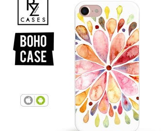 Boho Case, Boho iPhone 7 Case, iPhone 6 Case, Mandala Case, Feather Case, iPhone 7 Plus, iPhone 6 plus, Samsung Galaxy, iPhone 7 Clear Case