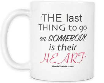 Rocky Balboa Sylvester Stallone Italian Stallion Movie Quote Coffee Mug For The Sly Fan The Last Thing To Go On Somebody Is Their Heart Cup