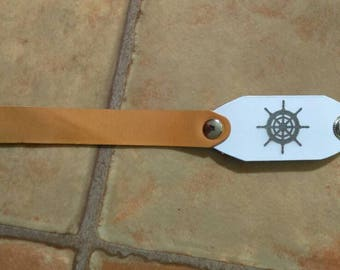 Leather Bracelet Italy Rudder