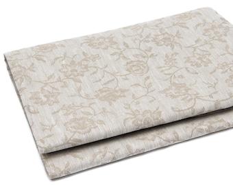 "Linen Jacquard Tablecloth ""Flowers"""