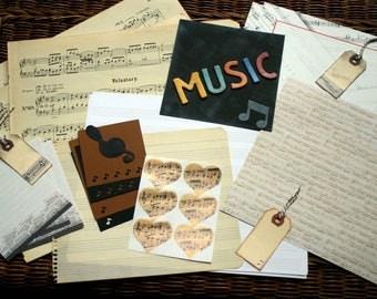 Music ephemera pack, Music papers, Vintage music sheets