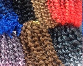 Mini twists crochet braids