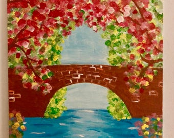 Floral Bridge Painting