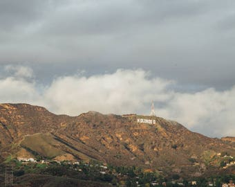Hollywood,  California Travel Photograph, Landscape Print
