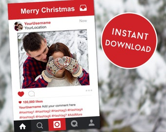 Christmas Photobooth Frame, Christmas Instagram Sign, Christmas Props, Selfie Frame, Instagram Frame, Photobooth Prop, Christmas Party